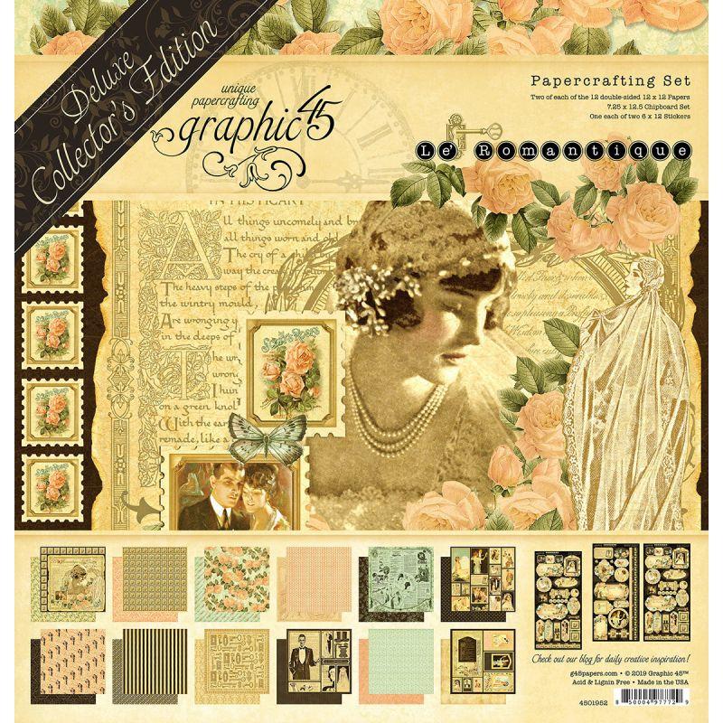 """Graphic 45 - Le Romantique Deluxe kollekció (12"""" x 12"""")"""
