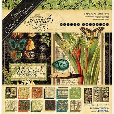 """Graphic 45 - Nature Notebook Deluxe kollekció (12"""" x 12"""")"""