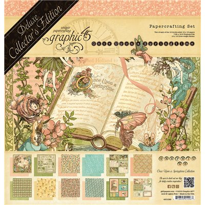 """Graphic 45 - Once Upon A Springtime Deluxe kollekció (12"""" x 12"""")"""