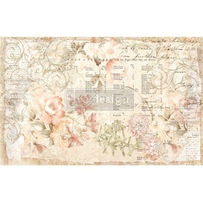 Re-Design with Prima Floral Parchment 19x30 Inch Tissue Paper