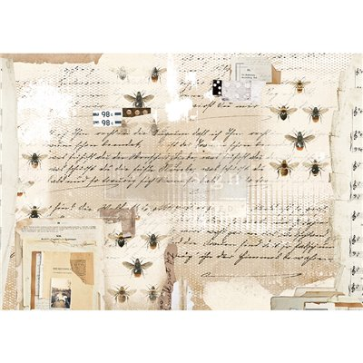 Re-Design with Prima Mysterious Notes Decor Rice Paper