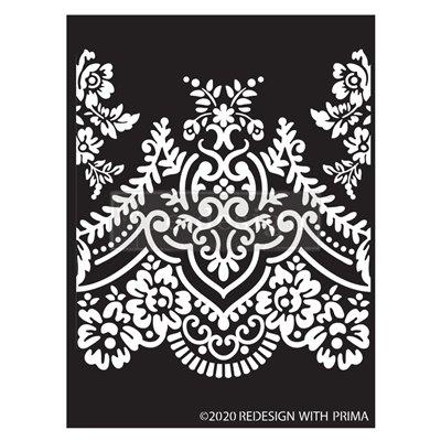 Re-Design with Prima Elegant Lace 9x13,5 Inch Decor Stencils
