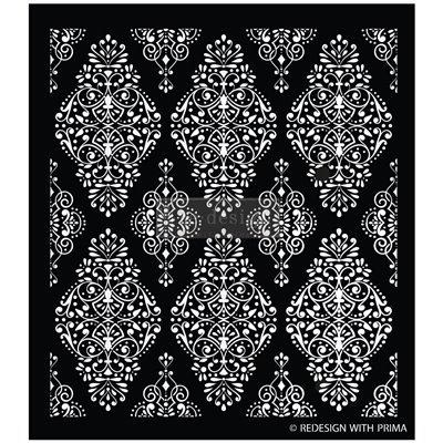 Re-Design with Prima Diamond Flourish 17,25x21 Inch Decor Stencils