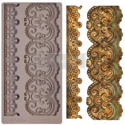 Prima Re-Design Szilikon öntőforma - Mould - CECE Border Lace