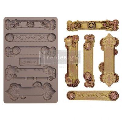 Prima Re-Design Szilikon öntőforma - Mould - Steampunk Plates