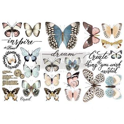 Re-Design with Prima Papillon Collection 6x12 Inch transzferfólia