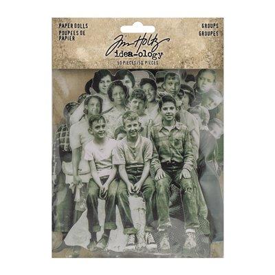 Tim Holtz Idea-Ology Paper Dolls Groups kivágatok (50 db)