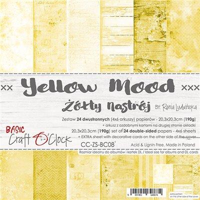 Yellow Mood - Basic set - papírkészlet 20,3 x 20,3 cm