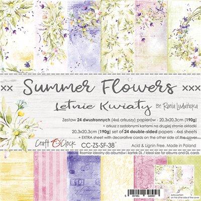 Summer Flowers - papírkészlet 20,3 x 20,3 cm