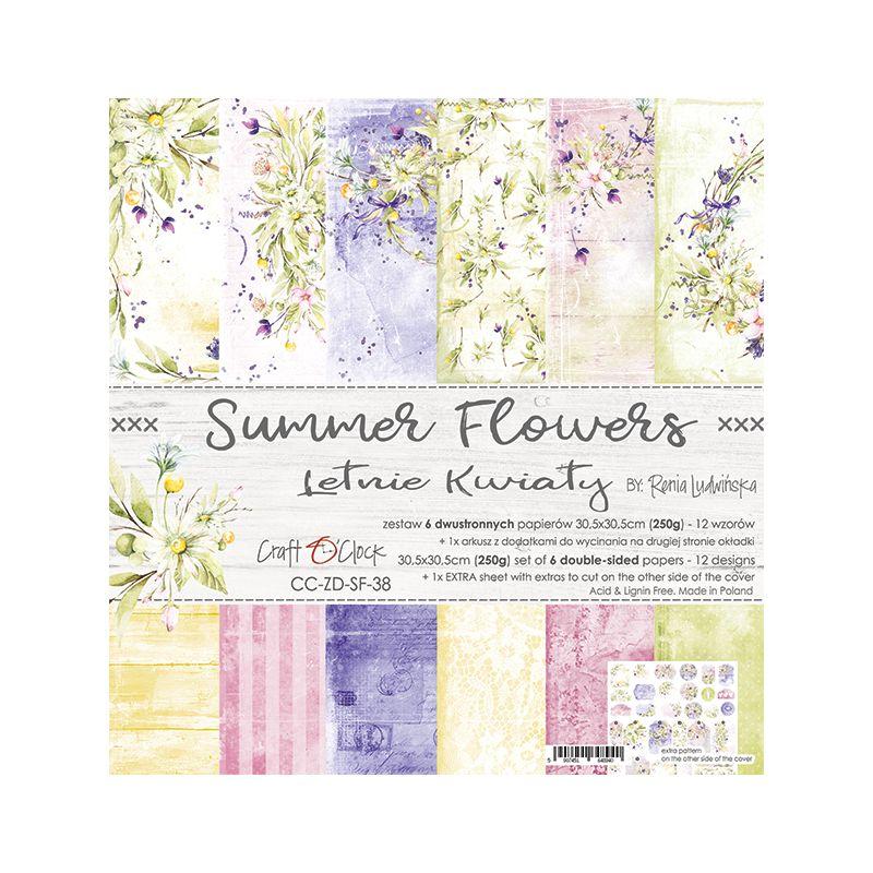 Summer Flowers - papírkészlet 30,5x30,5cm