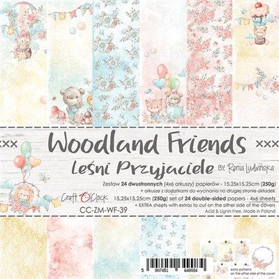 Woodland Friends - papírkészlet 15,25 x 15,25 cm