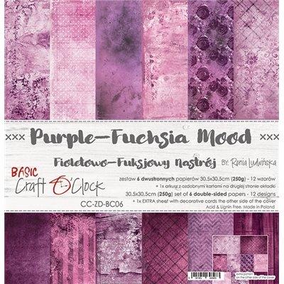 Purple-fuchsia Mood - Basic set - papírkészlet 30,5x30,5cm