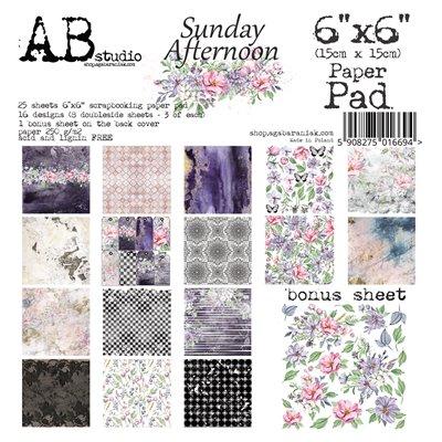 "Sunday afternoon 6""-es scrapbook papír kollekció"