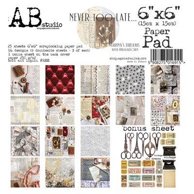 "Never too late 6""-es scrapbook papír kollekció"
