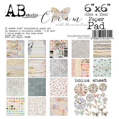"Cream 6""-es scrapbook papír kollekció"