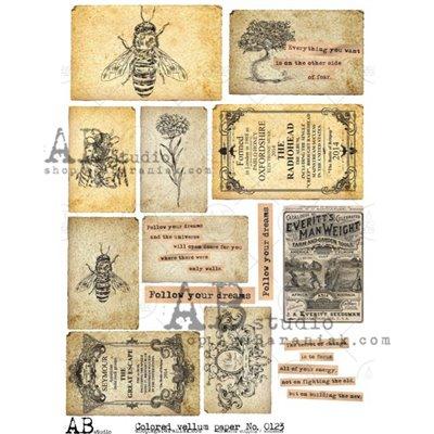 Színes mintás pauszpapír 0123