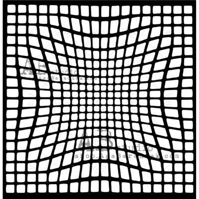 "Stencil ID-324 ""optic illusion"""