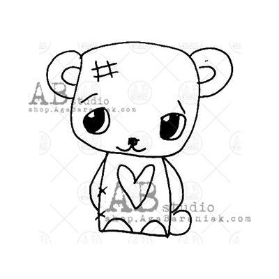 """Gumibélyegző ID-1040 """"cute Tandi bear"""""""