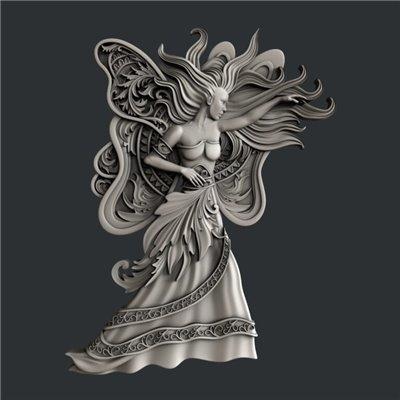 Zuri - Szilikon öntőforma - Mould - Butterfly Woman