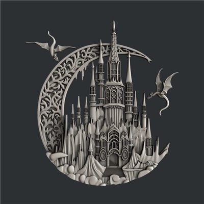 Zuri - Szilikon öntőforma - Mould - Enchanted Castle