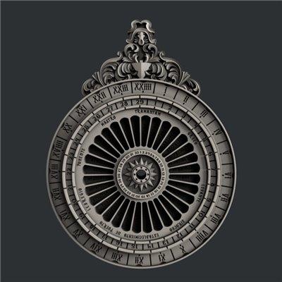 Zuri - Szilikon öntőforma - Mould - Lunar Calendar