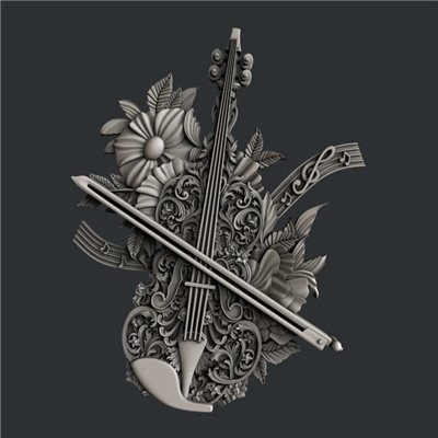 Zuri - Szilikon öntőforma - Mould - Violin Magic