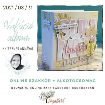 ONLINE SZAKKÖR + ALKOTÓCSOMAG- vakációs album