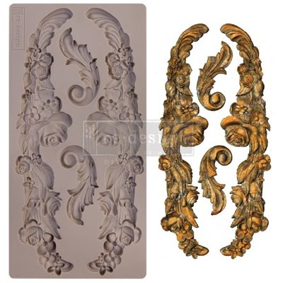 Prima Re-Design Szilikon öntőforma - Mould - Delicate Floral Strands 5x10 Inch