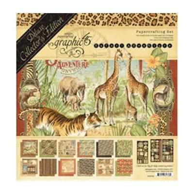 "Graphic 45 - Safari Adventure Deluxe kollekció (12x12"")"