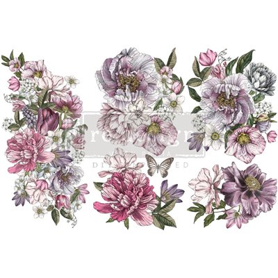 Re-Design with Prima Dreamy Florals 6x12 Inch transzferfólia