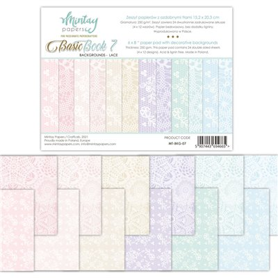 """Basic Book - Background - Lace - 6""""x8""""-es háttérpapír kollekció"""