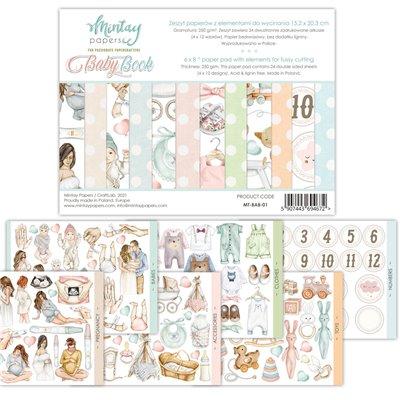"""Baby Book 01 - 6""""x8""""-es kivágóív kollekció"""