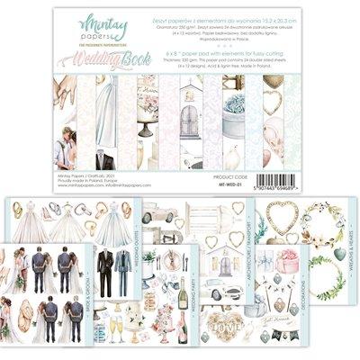 """Wedding Book - 6""""x8""""-as kivágóív kollekció"""