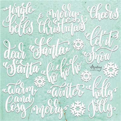 Mintay Chippies - Decor -Christmas Words - 22 db