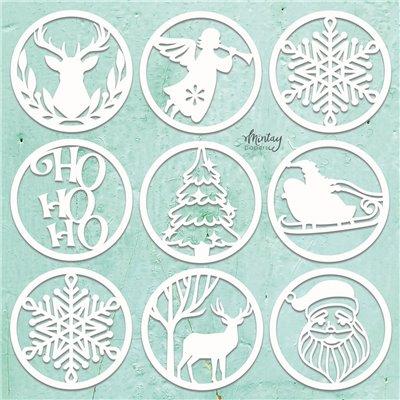 Mintay Chippies - Decor - Christmas Circles - 9 db