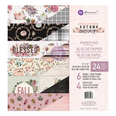 Hello Pink Autum 12x12-es fóliás maxi kollekció - 12 lap
