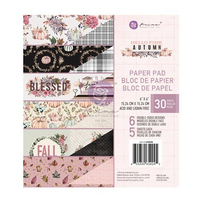 "Hello Pink Autum kollekció - 6""x6"" paper pad - 30 lap"