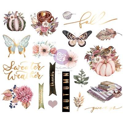 Hello Pink Autum kollekció - Fóliás Chipboard szett – 20db