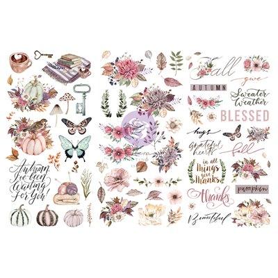 """Hello Pink Autumn kollekció - Rub on Transzferfólia - 12"""" x 6"""""""