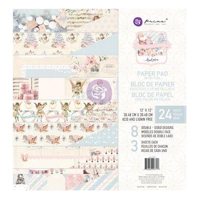 Christmas Sparkle 12x12-es fóliás mini kollekció - 8 lap