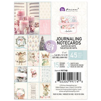 Christmas Sparkle kollekció - 3x4-es Journaling Cards - kártyák
