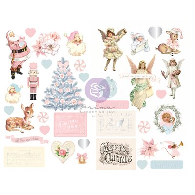 Christmas Sparkle kollekció - Fóliás Chipboard szett – 37db