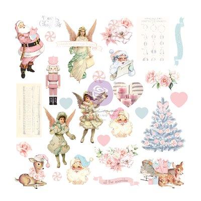 Christmas Sparkle kollekció - Fóliás Ephemera - 28db