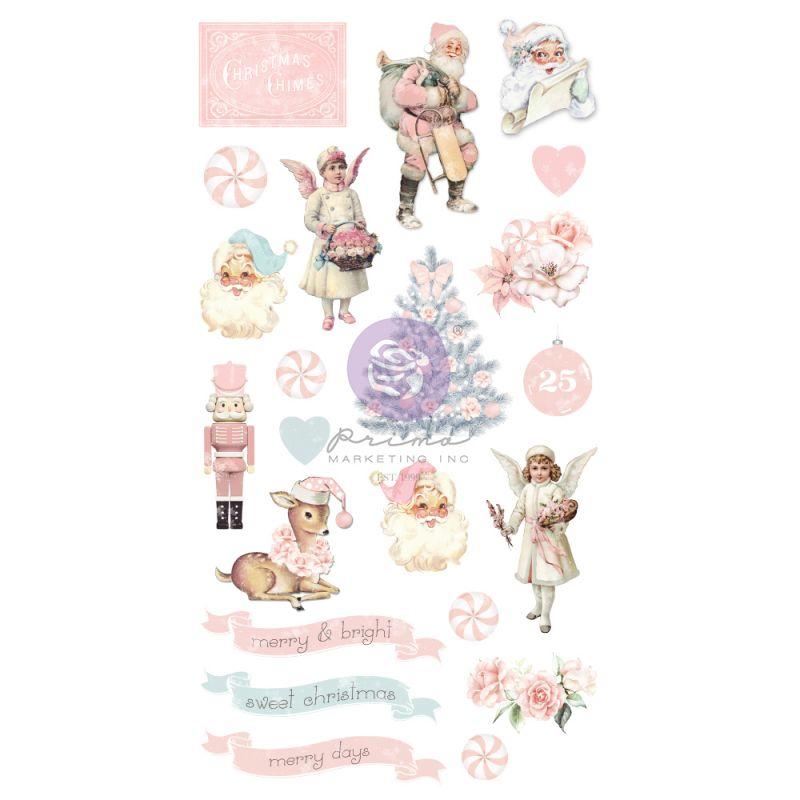 Christmas Sparkle kollekció - Puffy Stickers - 22db
