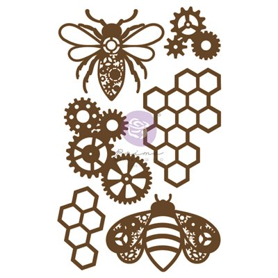 Prima Chipboard - Powerful Bees (6db)