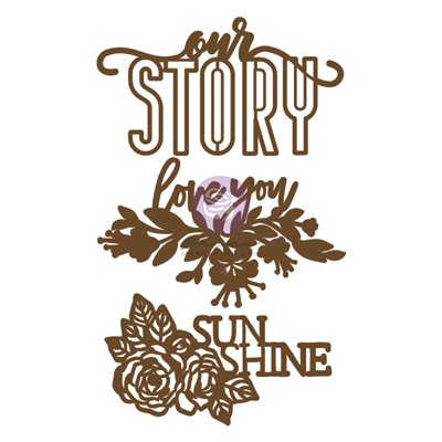 Prima Chipboard - Our Story (3db)