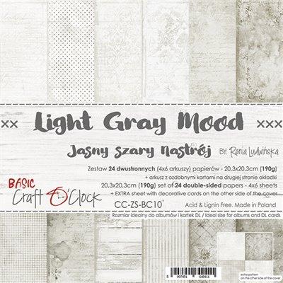 Light Gray Mood - Basic set - papírkészlet 20,3 x 20,3 cm