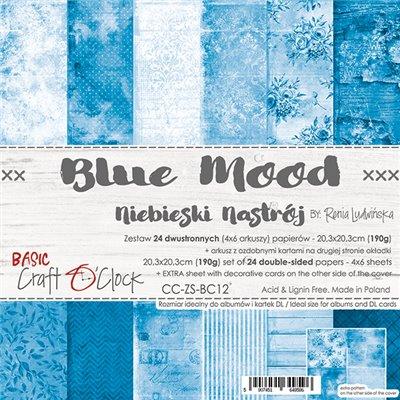Blue Mood - Basic set - papírkészlet 20,3 x 20,3 cm