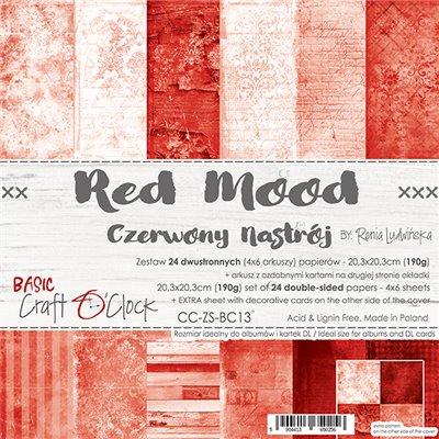 Red Mood - Basic set - papírkészlet 20,3 x 20,3 cm