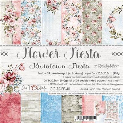 Flower Fiesta - papírkészlet 20,3 x 20,3 cm